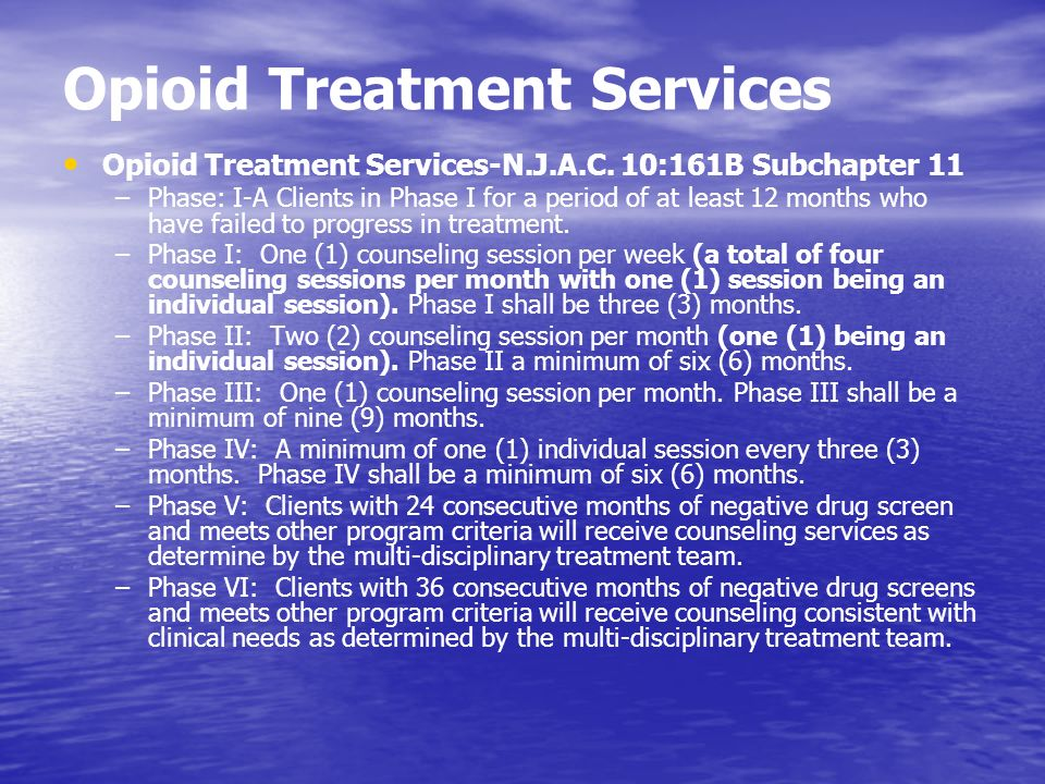 Opioid Treatment Services