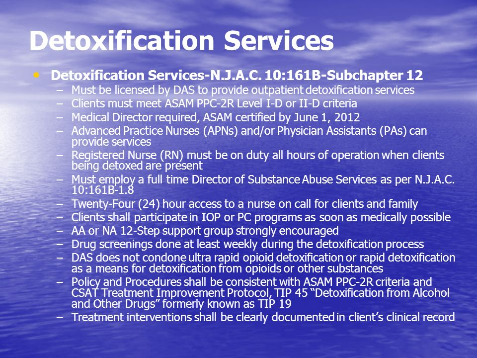 Detoxification Services