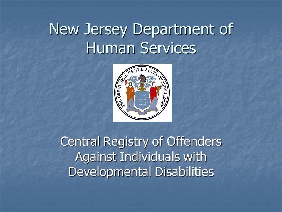 New Jersey Department of Human Services