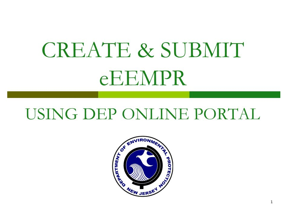 CREATE & SUBMIT eEEMPR USING DEP ONLINE PORTAL