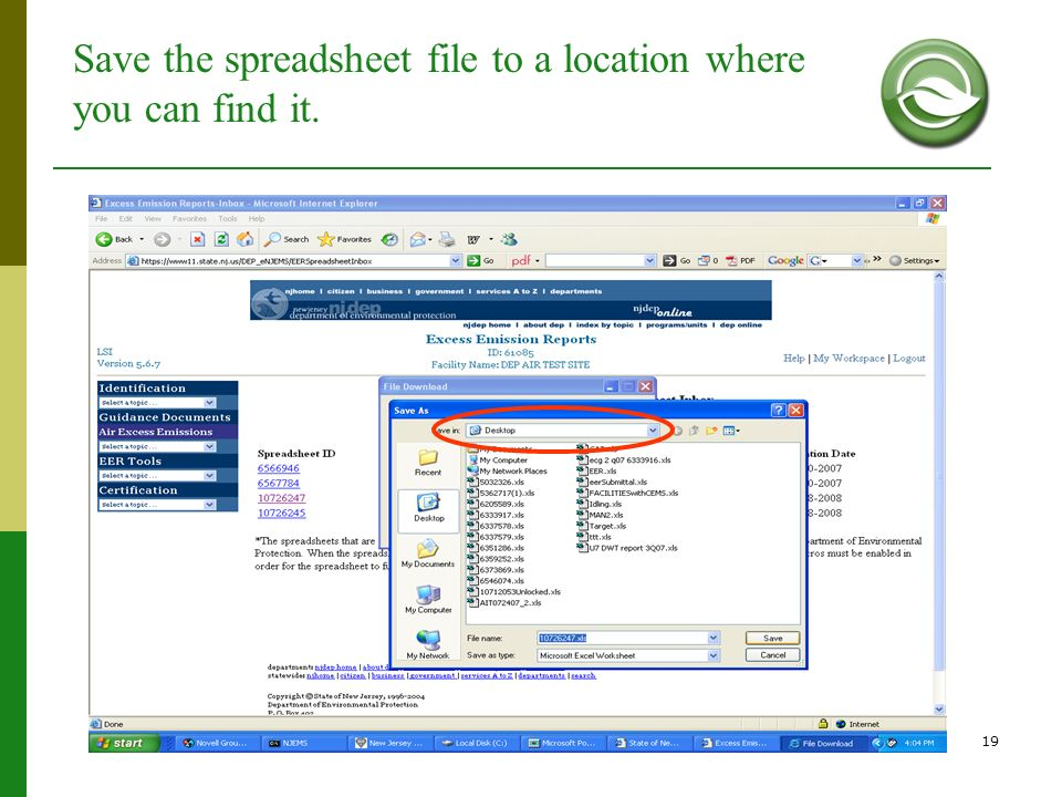Save the spreadsheet file to a location where you can find it.