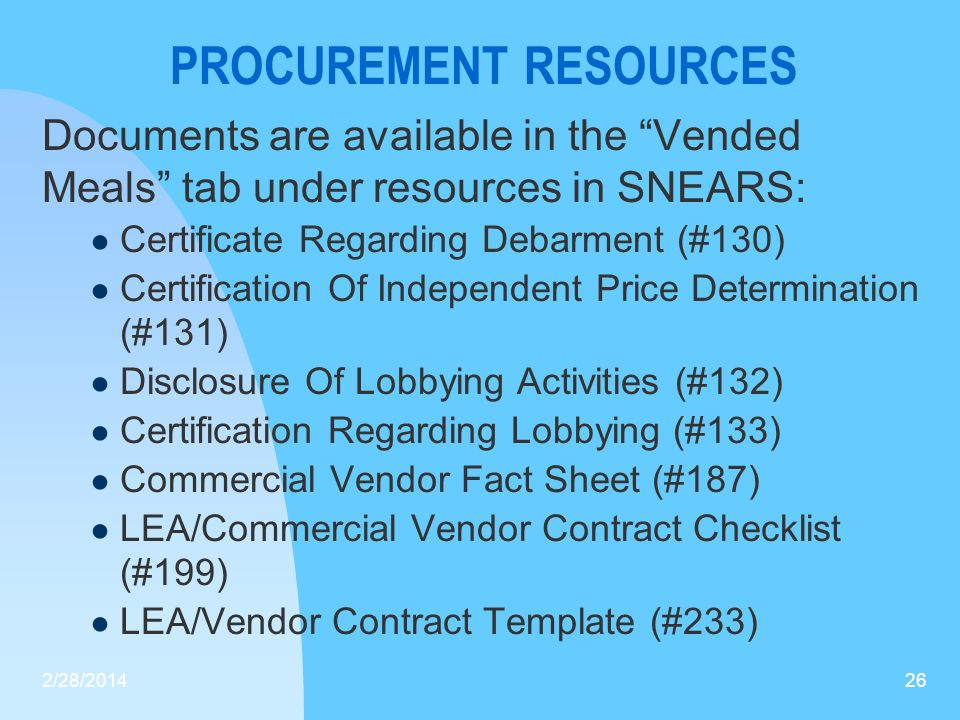 PROCUREMENT RESOURCES
