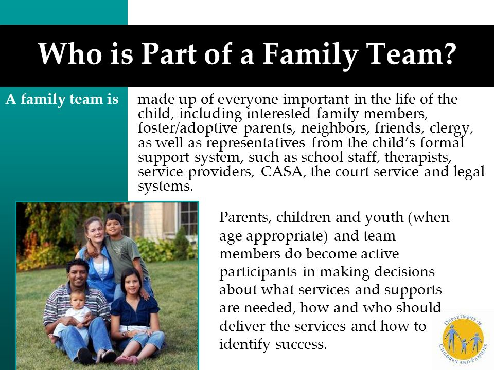 Who is Part of a Family Team