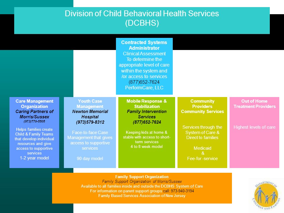 Division of Child Behavioral Health Services (DCBHS)