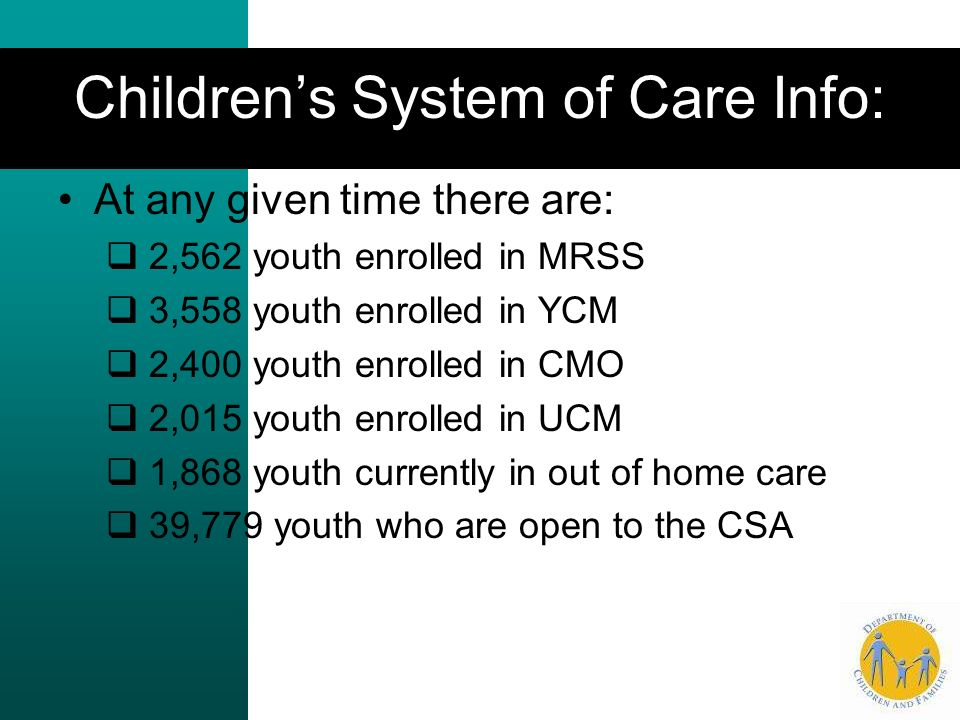 Children's System of Care Info: