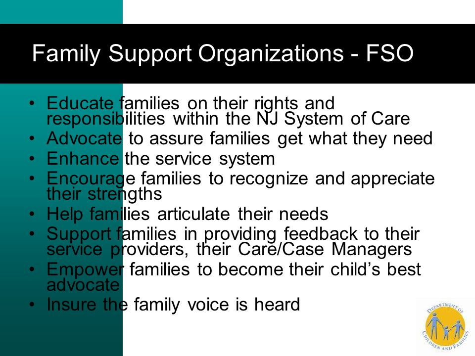 Family Support Organizations - FSO …
