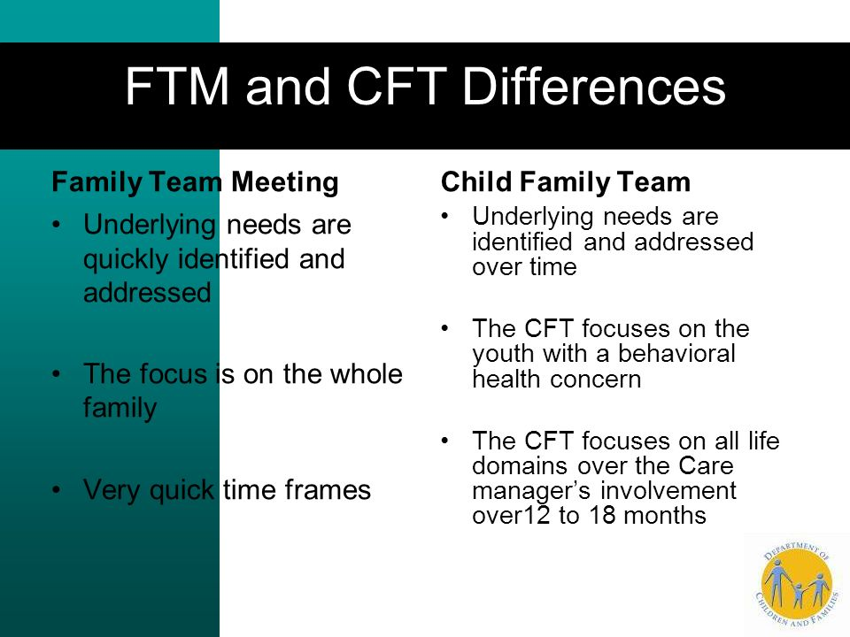 FTM and CFT Differences