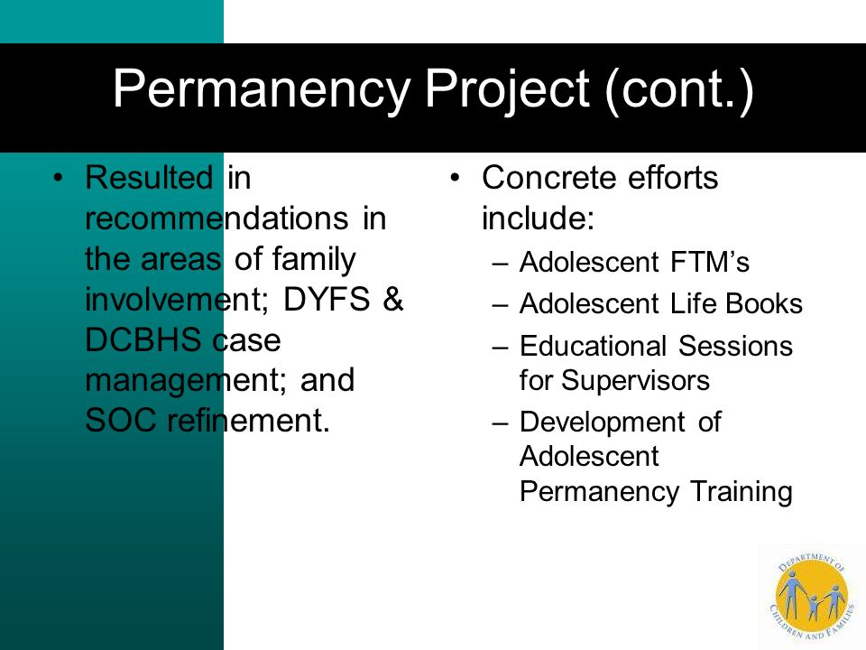 Permanency Project (cont.)