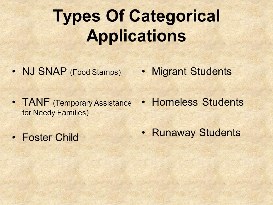 Types Of Categorical Applications