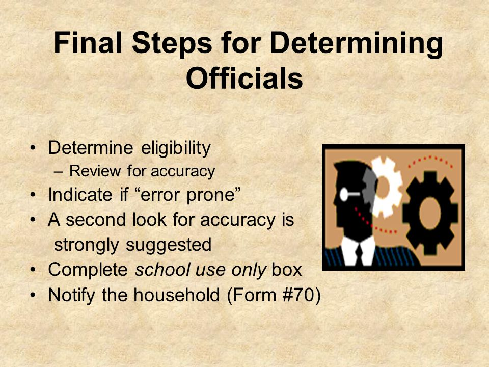 Final Steps for Determining Officials