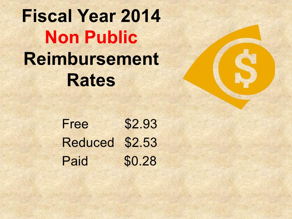Fiscal Year 2014 Non Public Reimbursement Rates
