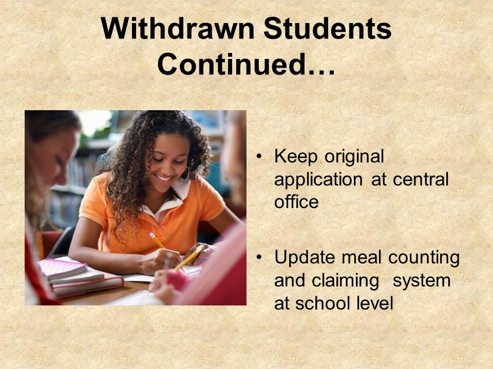 Withdrawn Students Continued…