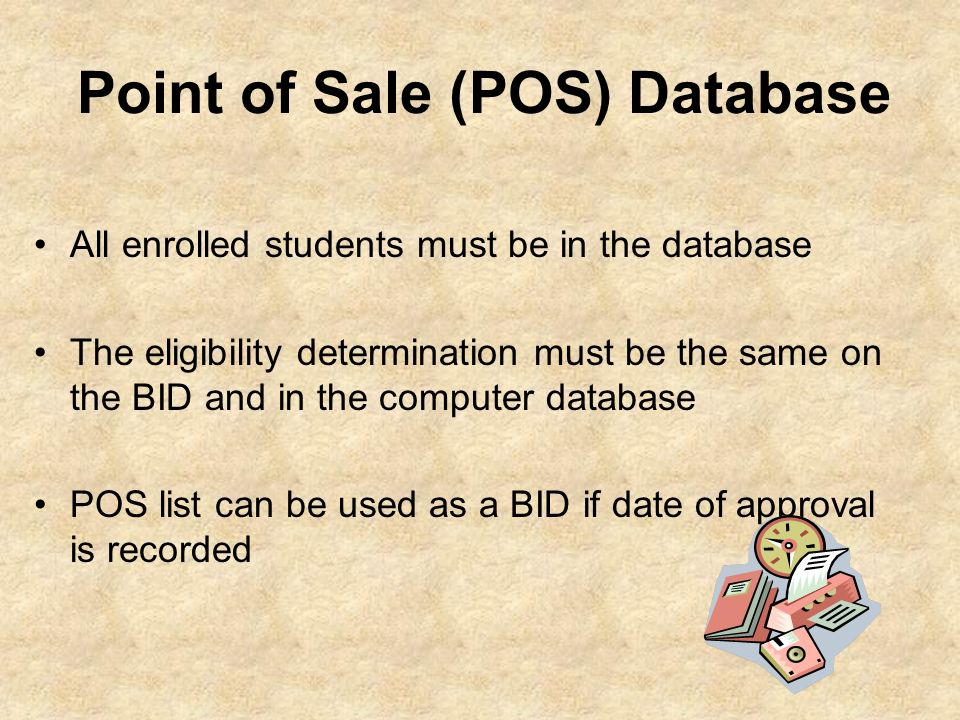 Point of Sale (POS) Database