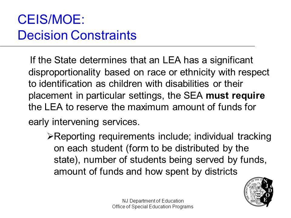 CEIS/MOE: Decision Constraints