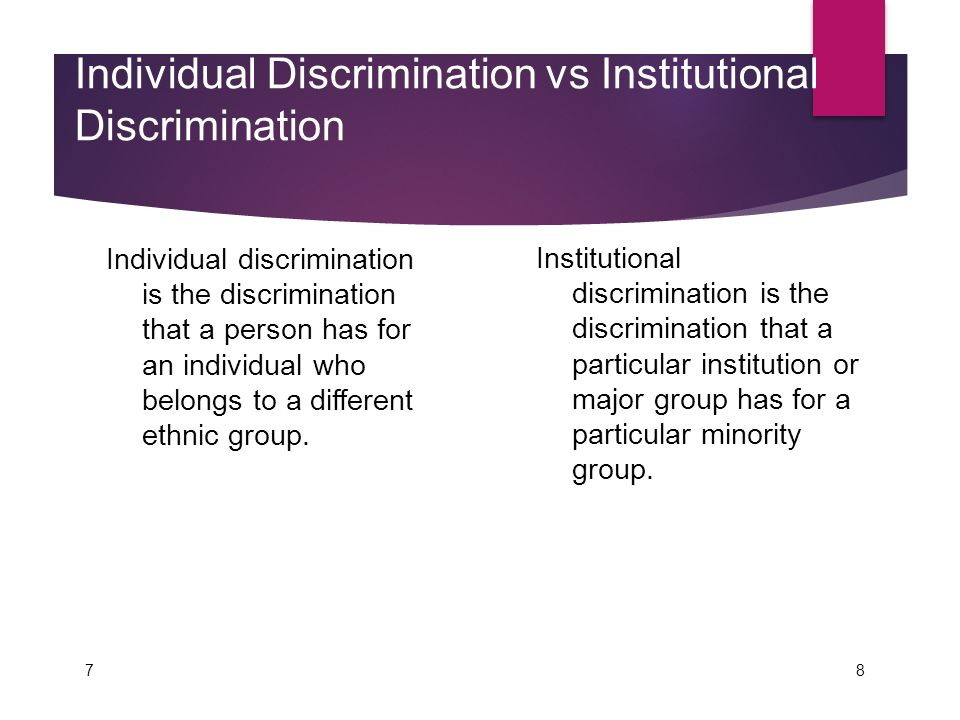 What Are Examples of Individual Discrimination?