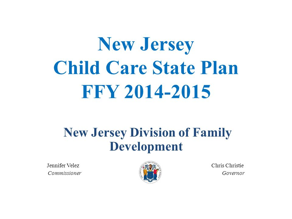 New Jersey Child Care State Plan FFY
