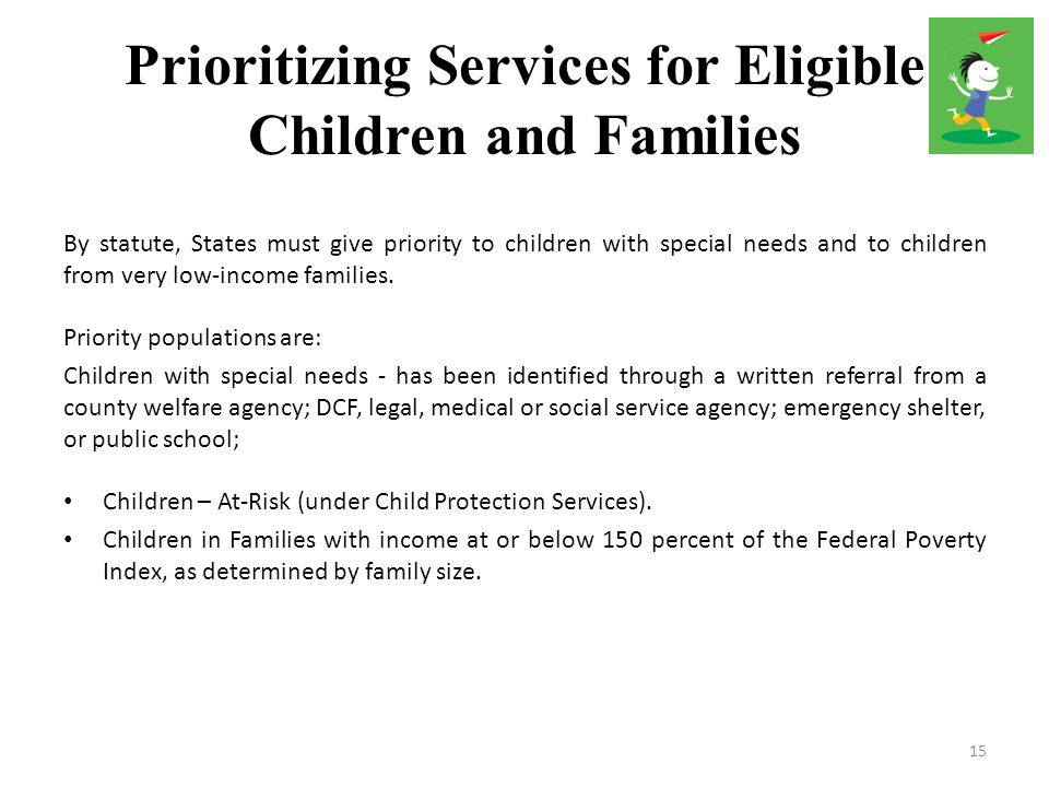 Prioritizing Services for Eligible Children and Families