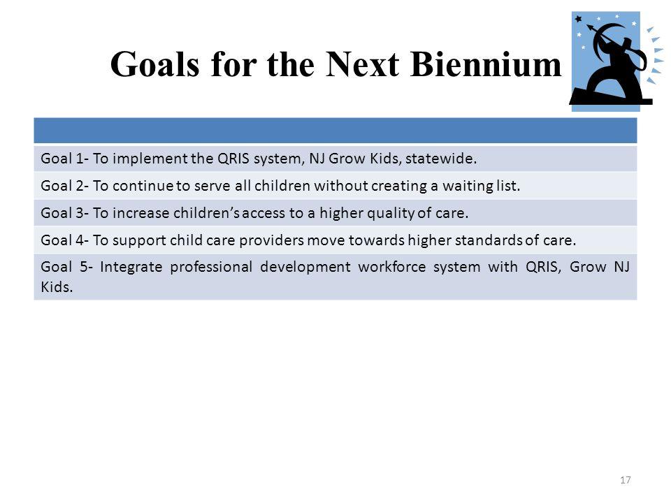 Goals for the Next Biennium