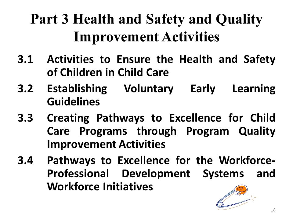 Part 3 Health and Safety and Quality Improvement Activities