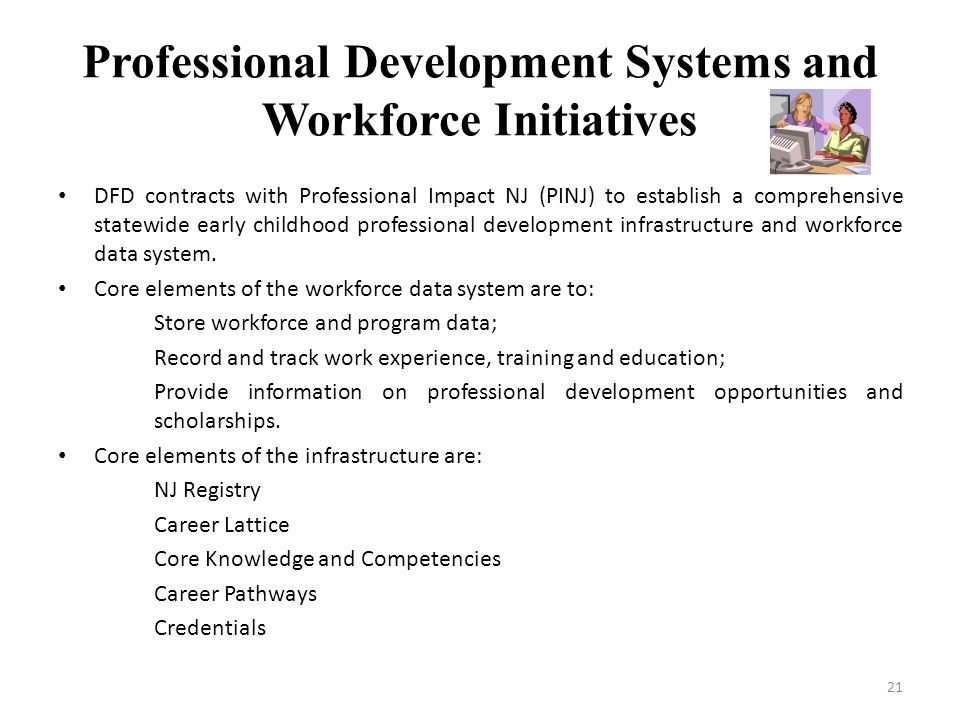 Professional Development Systems and Workforce Initiatives