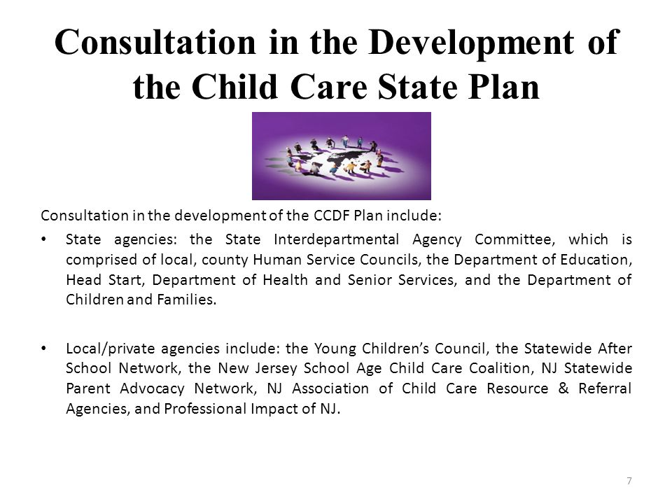 Consultation in the Development of the Child Care State Plan