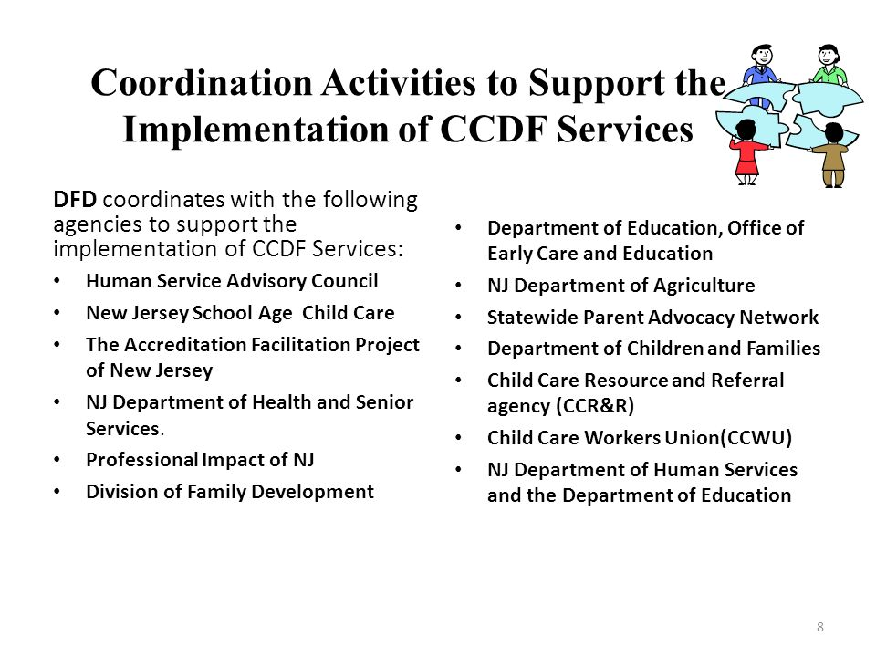 Coordination Activities to Support the Implementation of CCDF Services