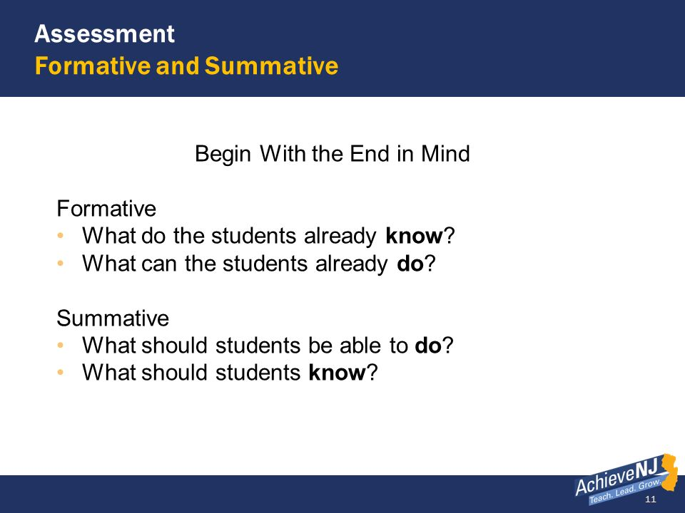 Assessment Formative and Summative
