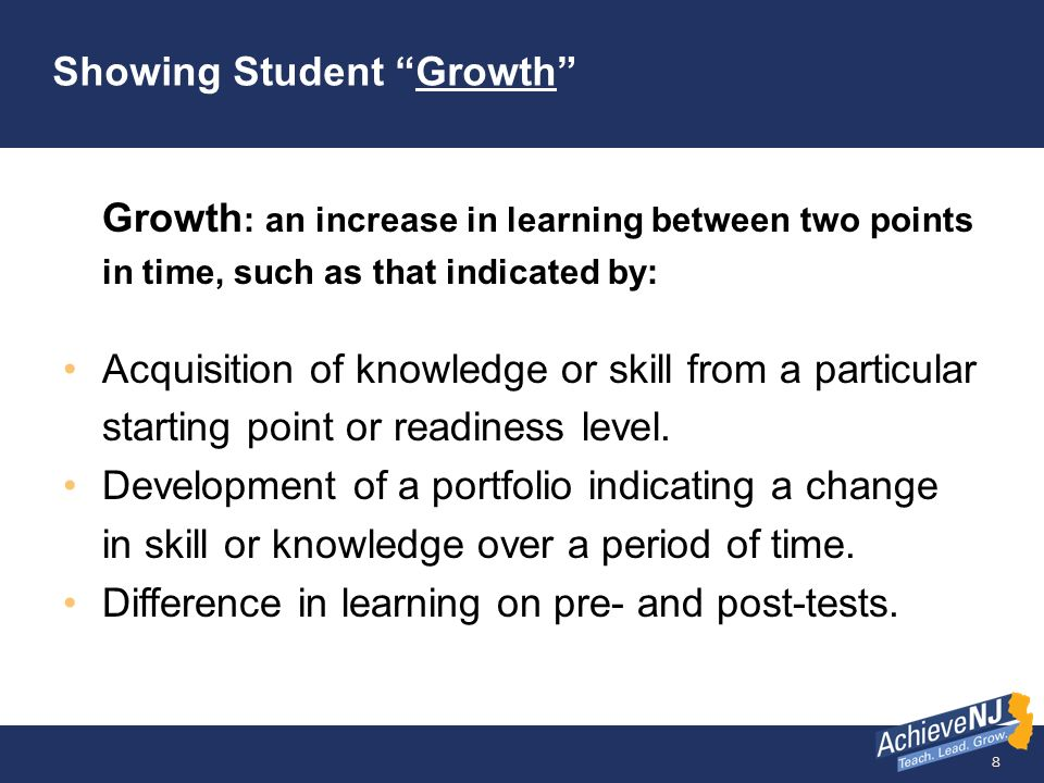 Showing Student Growth