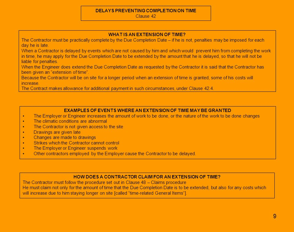 Construction contracts master chart ppt download for Allowances in construction contracts
