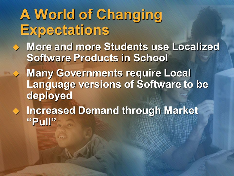A World of Changing Expectations