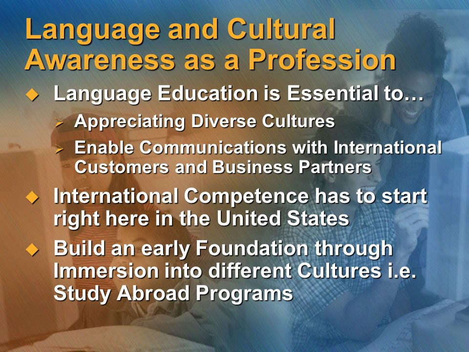 Language and Cultural Awareness as a Profession