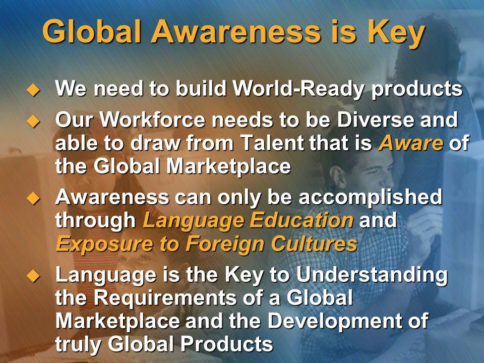 Global Awareness is Key