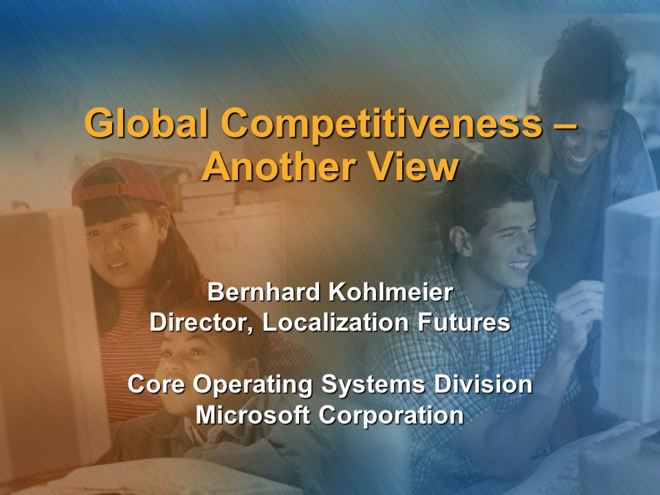 Global Competitiveness – Another View