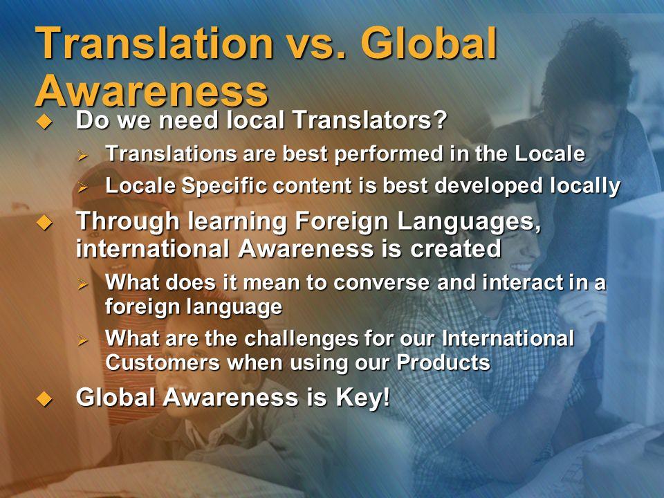 Translation vs. Global Awareness
