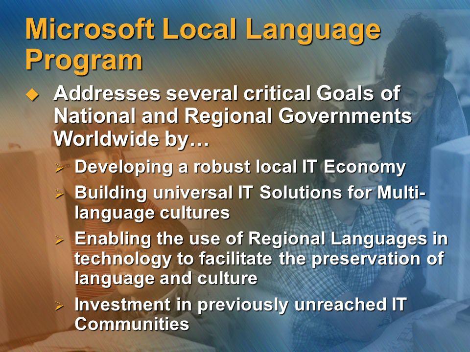 Microsoft Local Language Program