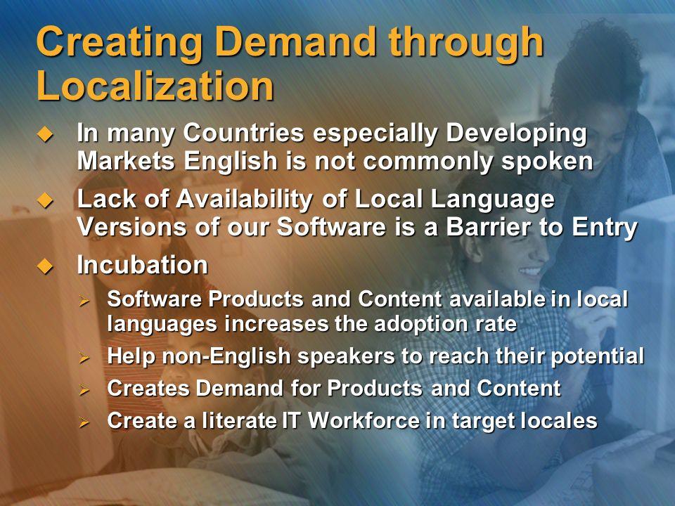 Creating Demand through Localization