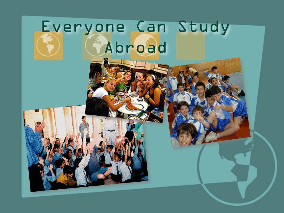 Everyone Can Study Abroad