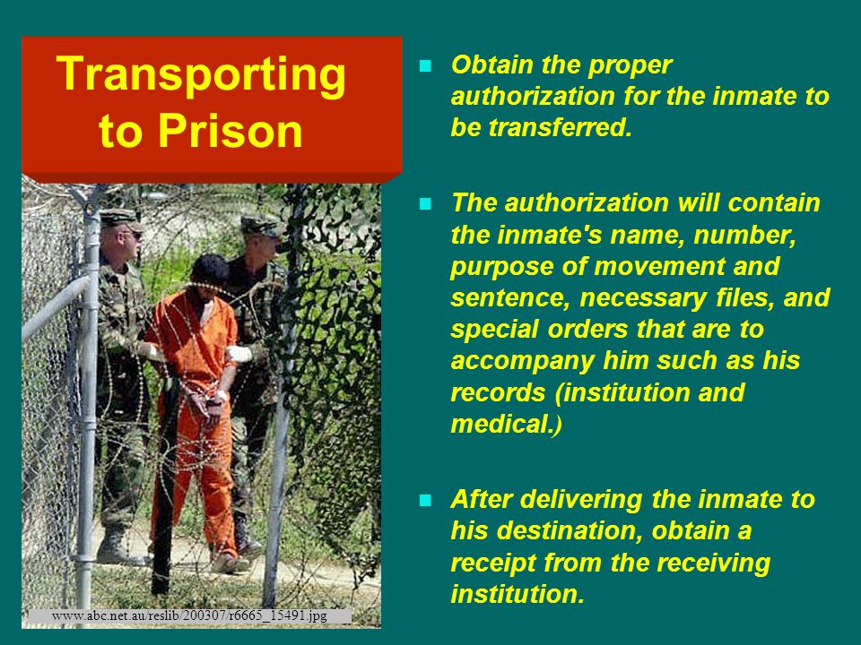 Transporting to Prison