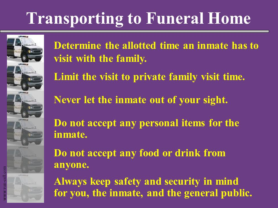 Transporting to Funeral Home