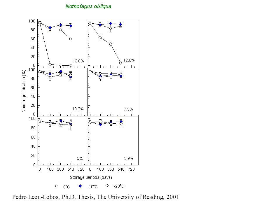 Pedro Leon-Lobos, Ph.D. Thesis, The University of Reading, 2001
