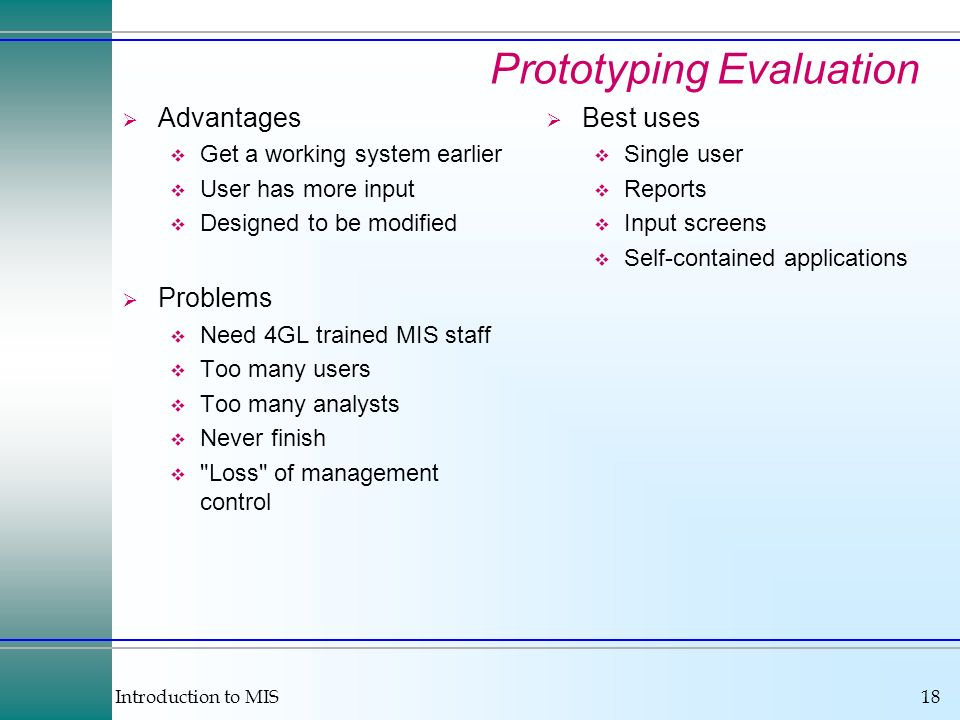 Prototyping Evaluation