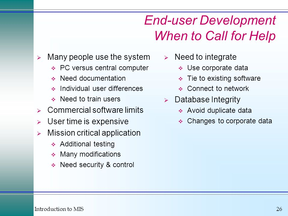 End-user Development When to Call for Help