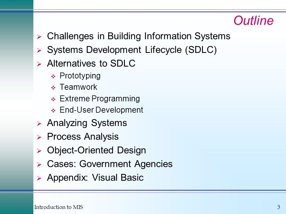 Outline Challenges in Building Information Systems