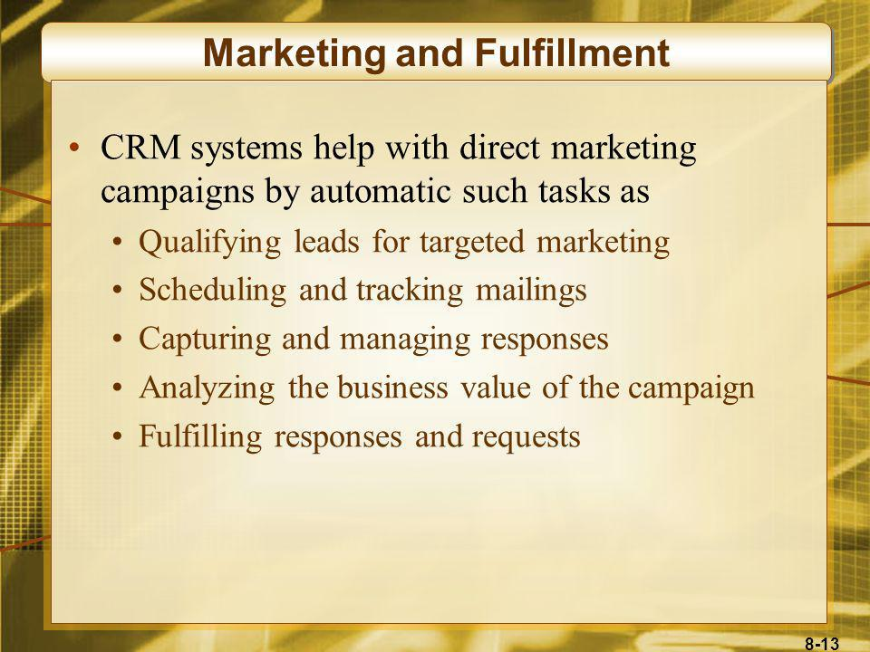 Marketing and Fulfillment