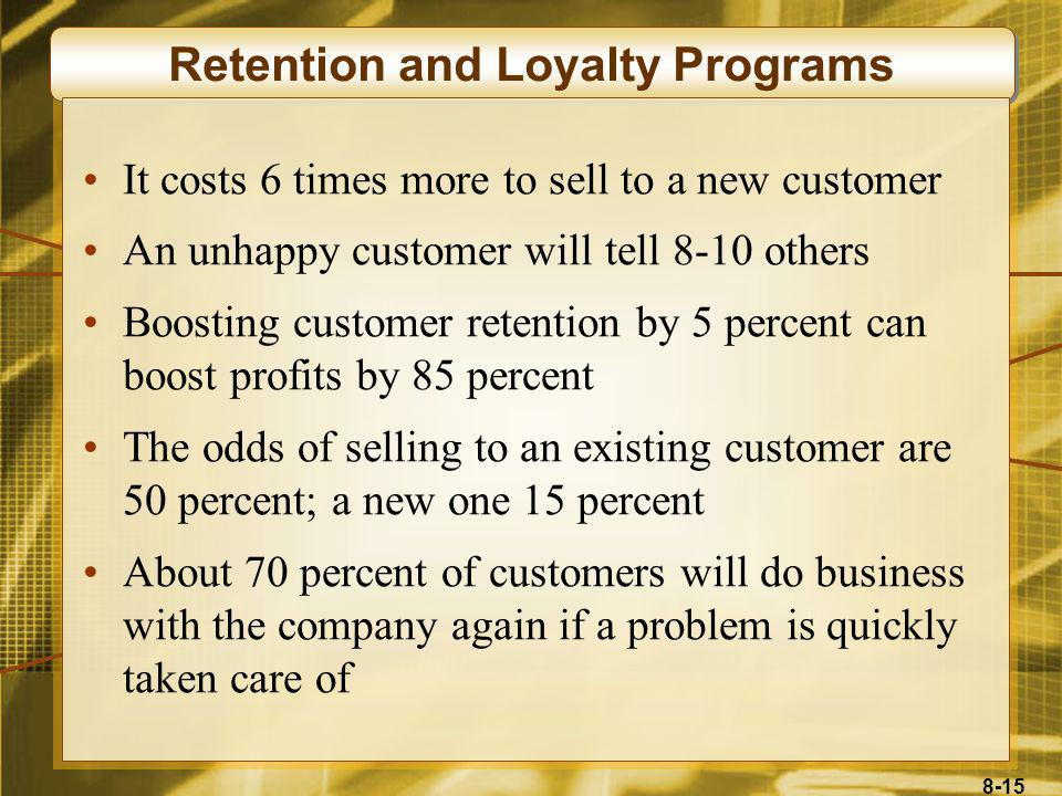 Retention and Loyalty Programs