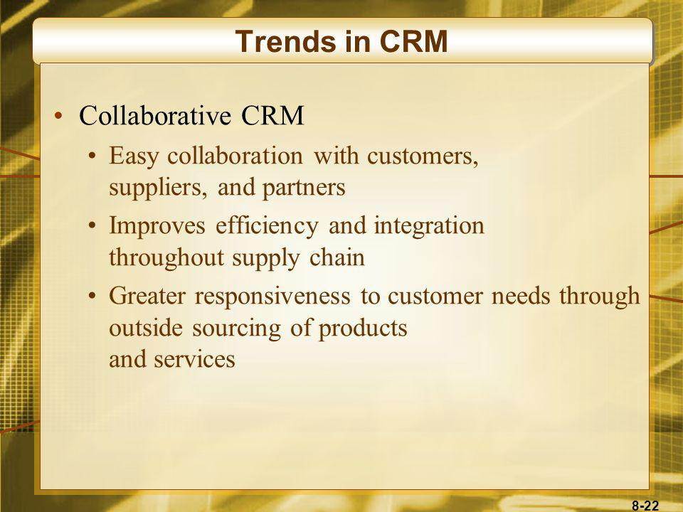 Trends in CRM Collaborative CRM