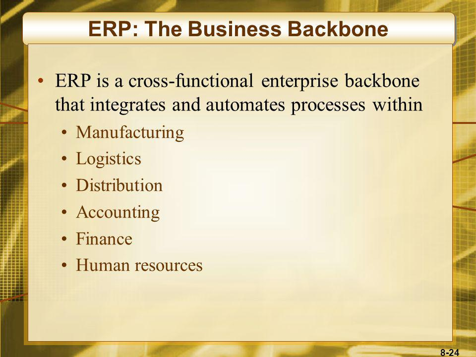 ERP: The Business Backbone
