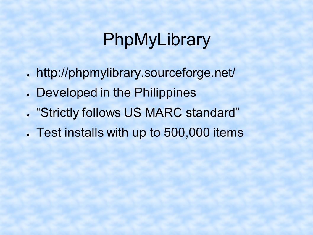 PhpMyLibrary http://phpmylibrary.sourceforge.net/