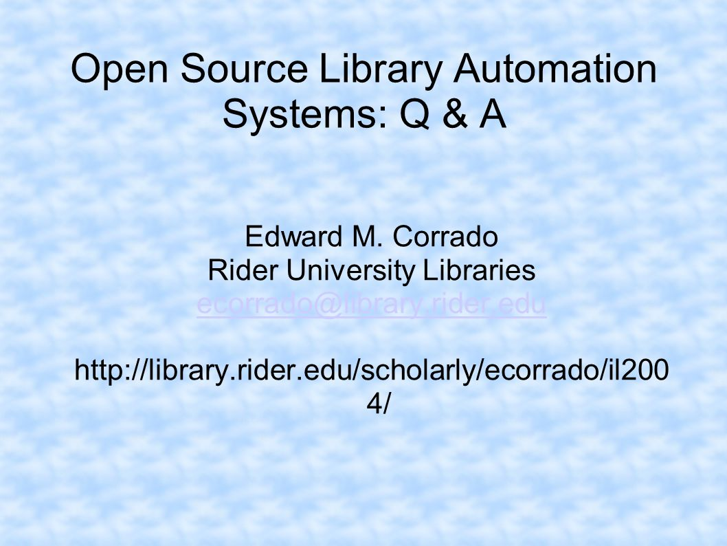 Open Source Library Automation Systems: Q & A