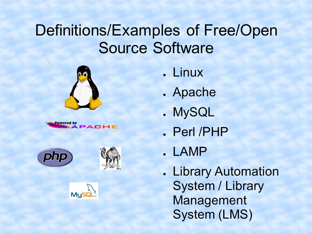 Definitions/Examples of Free/Open Source Software